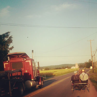 Amish Buggy in Lancaster PA