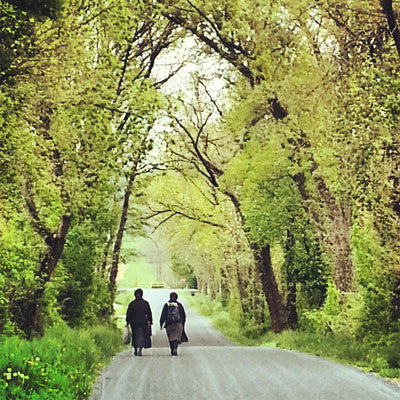 Amish Women Walking Strasburg PA