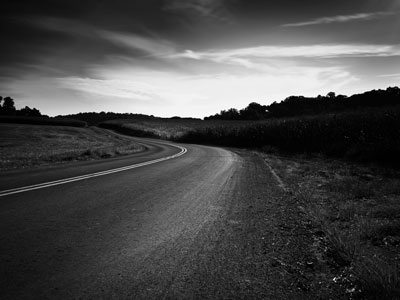 Dark Quiet Road Thumb Solitude