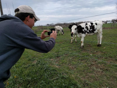 Deiter Taking Pictures Of Cows And you were born in this area?