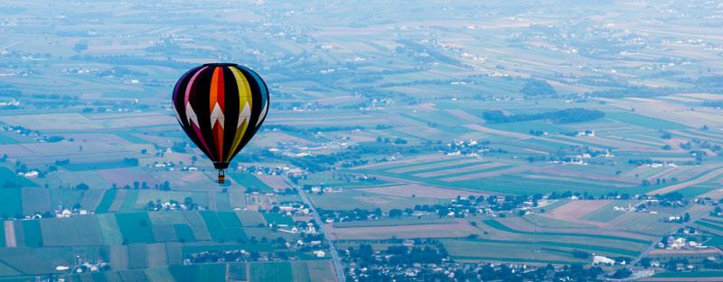 Hot Air Balloon Ride Lancaster County PA Explore Lancaster County from a Hot Air Balloon ride!