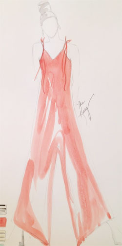 Kathy Frey Fashion Design Illustration To go back a little bit you say you have a degree in fashion design.  So you can illustrate.  And then you went to flower design…