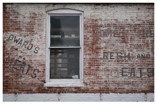 Old butcher shop building in Quarryville