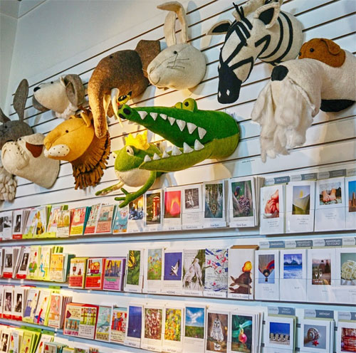 Stuffed Animals and Greeting Cards Lancaster PA I know that your dogs play a big part in your life in your marketing and in your store.  Can you tell me a little bit about that?