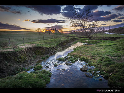 Sunset Farm and Stream Wallpaper 12 2015 Thumb A Lancaster County Landscape