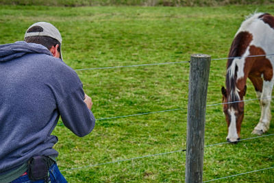 Tyler Deiter Taking Pictures Of A Horse So you're always a learner this way? You're a very curious person?